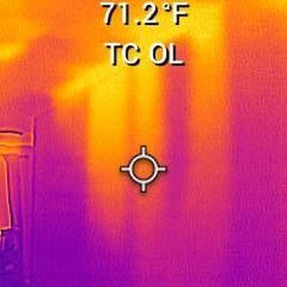 Thermal image infrared home inspection